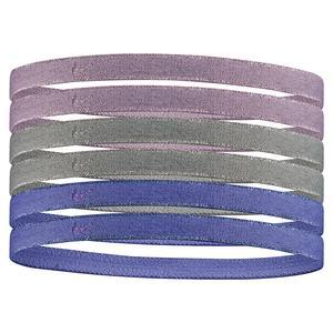 Women`s Swoosh Sport Headbands 6 Pack Metallic Plum Fog and Particle Grey