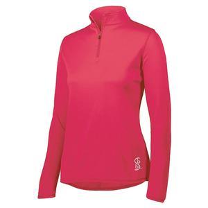 Women`s 1/4 Zip Pickleball Pullover Pink
