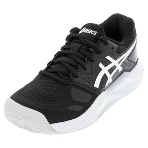 Men`s GEL-Challenger 13 Clay Tennis Shoes Black and White