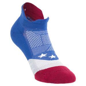 Elite Light Cushion No Show Tab Socks USA Blue