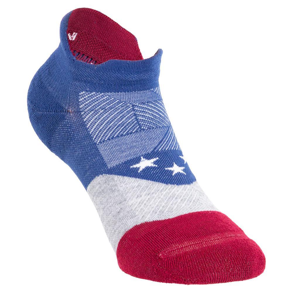 Elite Max Cushion No Show Tab Socks Usa Blue
