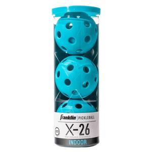 X-26 Indoor Pickleballs 3 Pack Blue