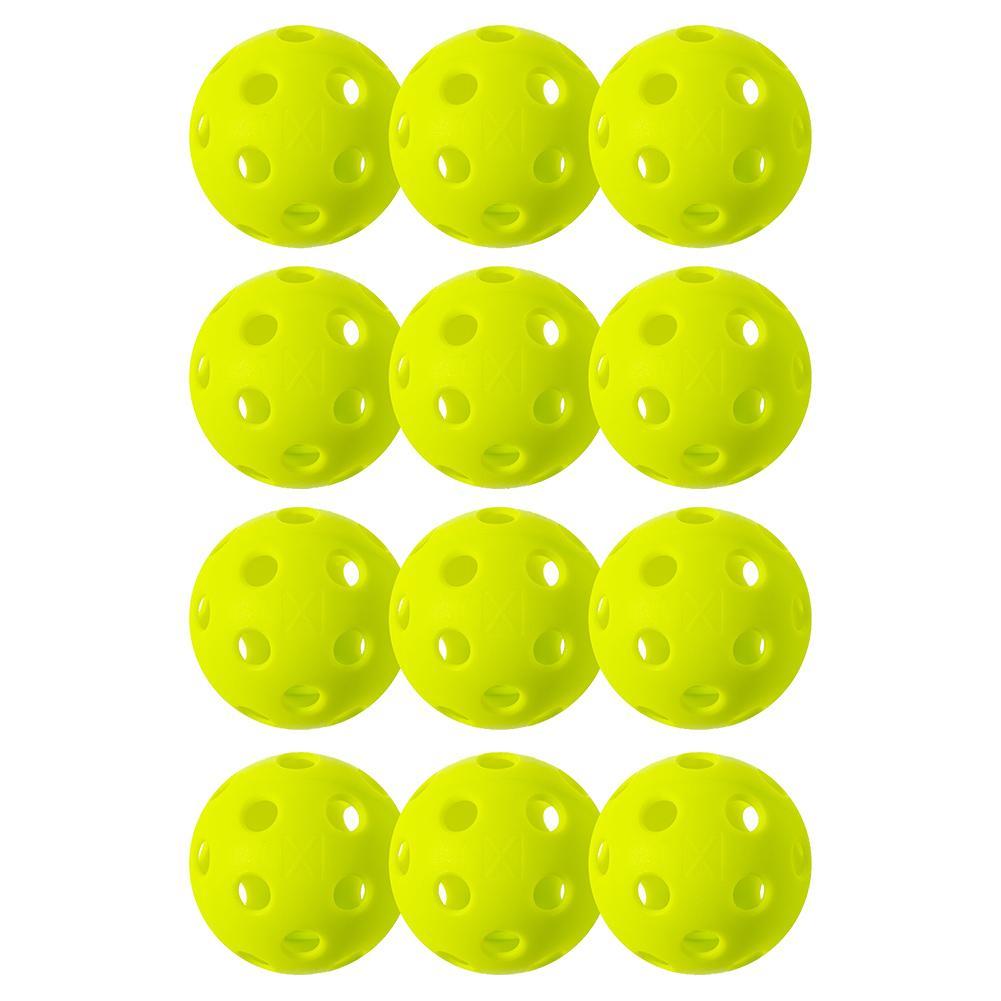 X- 26 Indoor Pickleballs 12 Pack Lime Green