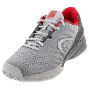 Men`s Revolt Pro 3.5 Tennis Shoes Gray and Red