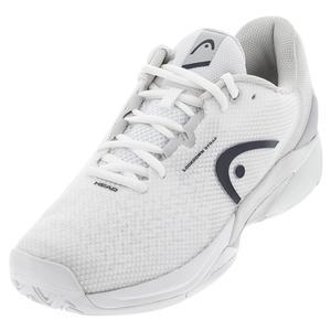 Men`s Revolt Pro 3.5 Tennis Shoes White and Dress Blue