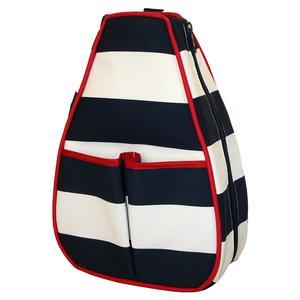 Women`s Sophi Tennis Backpack Sailor Stripe Navy
