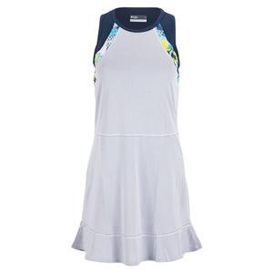 Women`s Lilia Tennis Dress White and Navy