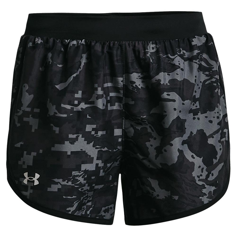 Women's Ua Fly- By 2.0 Printed Shorts Black