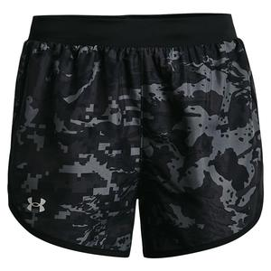 Women`s UA Fly-By 2.0 Printed Shorts Black