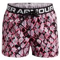 Girls` UA Play Up Printed Shorts 653_CERISE