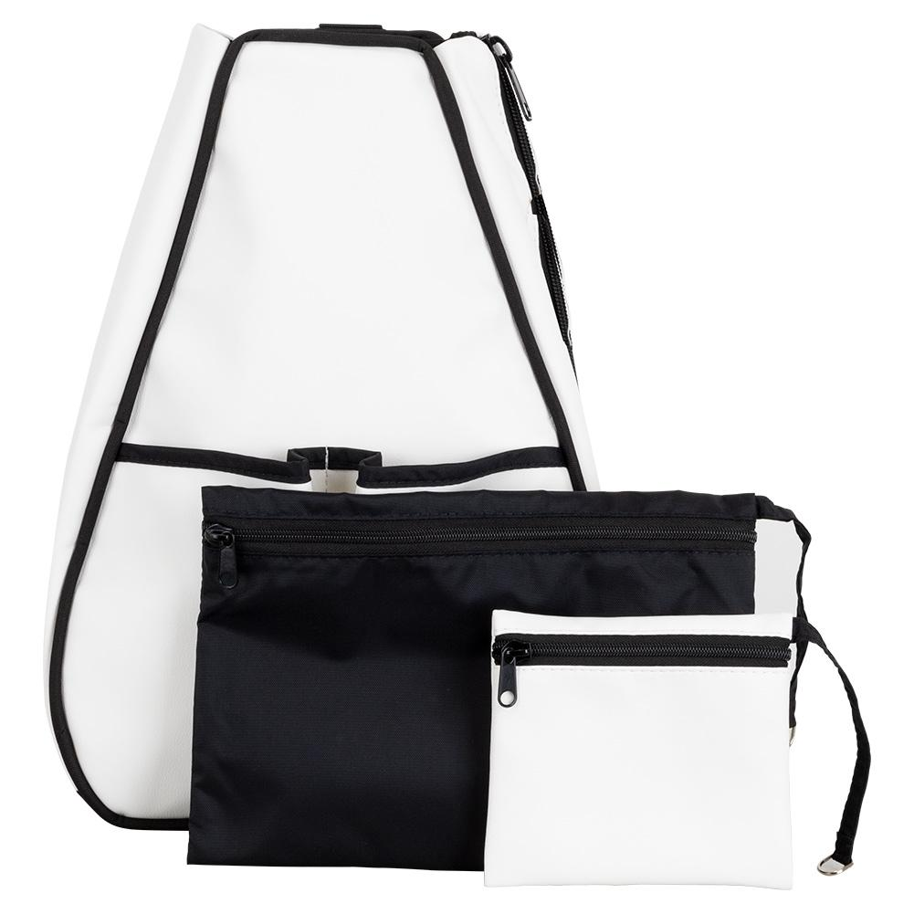 Women's Sophi Tennis Backpack White Faux Leather
