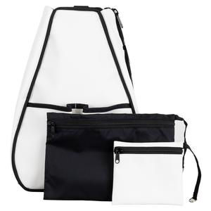 Women`s Sophi Tennis Backpack White Faux Leather