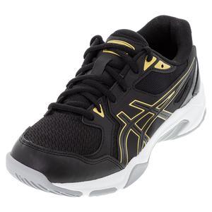 Men`s GEL-Rocket 10 Indoor Sport Shoes Black and Pure Gold