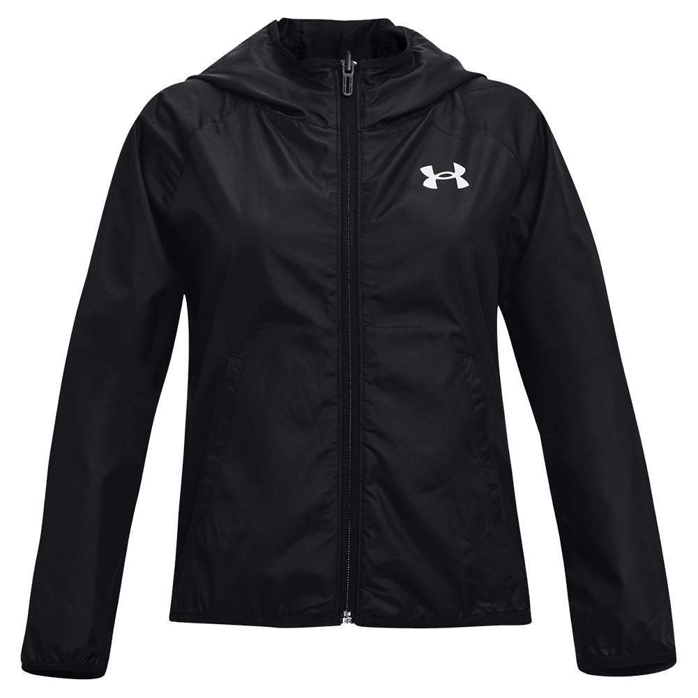 Girls ` Ua Woven Reversible Full Zip Jacket Black