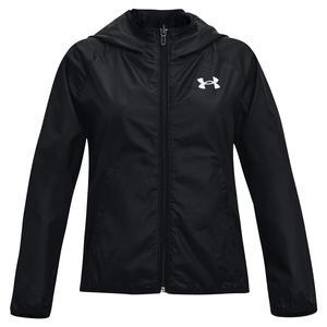 Girls` UA Woven Reversible Full Zip Jacket Black