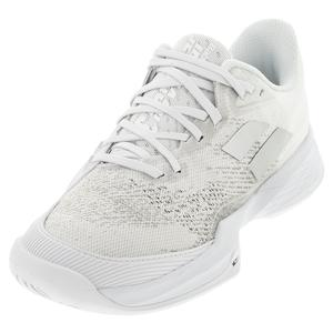 Men`s Jet Mach 3 All Court Tennis Shoes White and Silver