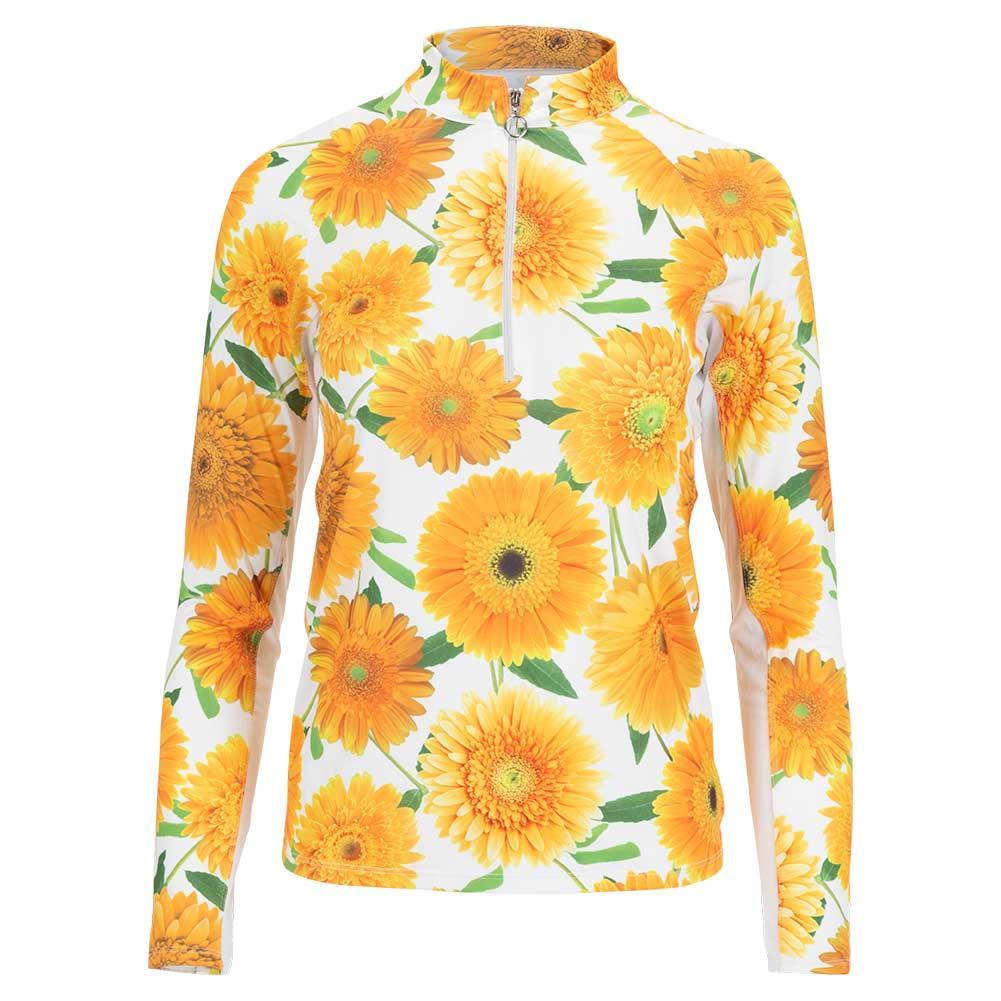 Women's Sunshine Long Sleeve Tennis Top Flower Burst