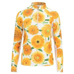 Women`s Sunshine Long Sleeve Tennis Top Flower Burst