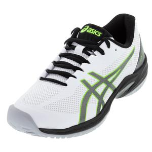 Men`s Court Speed FF Tennis Shoes White and Gunmetal