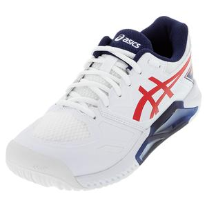 Men`s GEL-Challenger 13 LE Tennis Shoes White and Classic Red