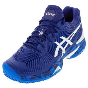 Men`s Court FF Novak Tennis Shoes Blue Print and White