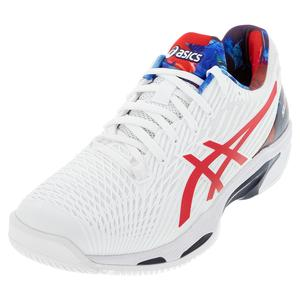 Men`s Solution Speed FF 2 LE Tennis Shoes White and Classic Red