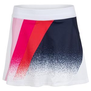 Women`s Arezzo Tennis Skort White and Pink Multi