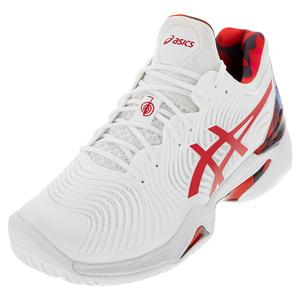 Men`s Court FF Novak LE Tennis Shoes White and Classic Red