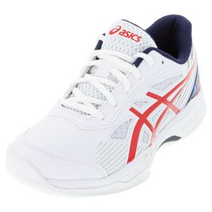 Juniors` GEL-Game 8 GS LE Tennis Shoes White and Classic Red