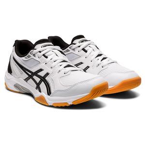 Women`s GEL-Rocket 10 Indoor Sport Shoes White and Black