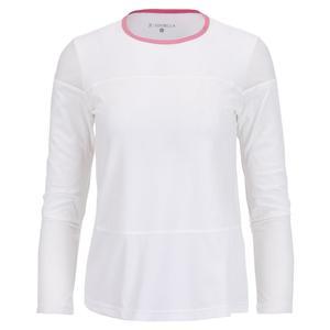 Women`s Long Sleeve Tennis Top Weave and Macrame