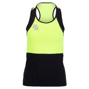 Women`s Boston Tennis Tank Yellow and Black