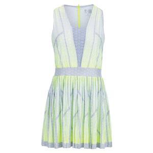 X K-Swiss Women`s Pleat Wave Tennis Dress Neon Yellow