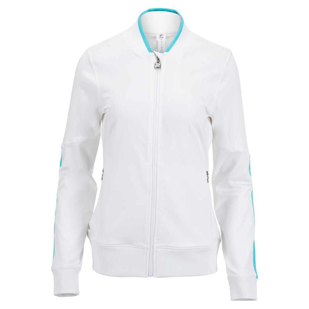 Women's Trailblazer Tennis Jacket White And Capri