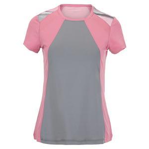 Women`s Short Sleeve Tennis Top Macrame