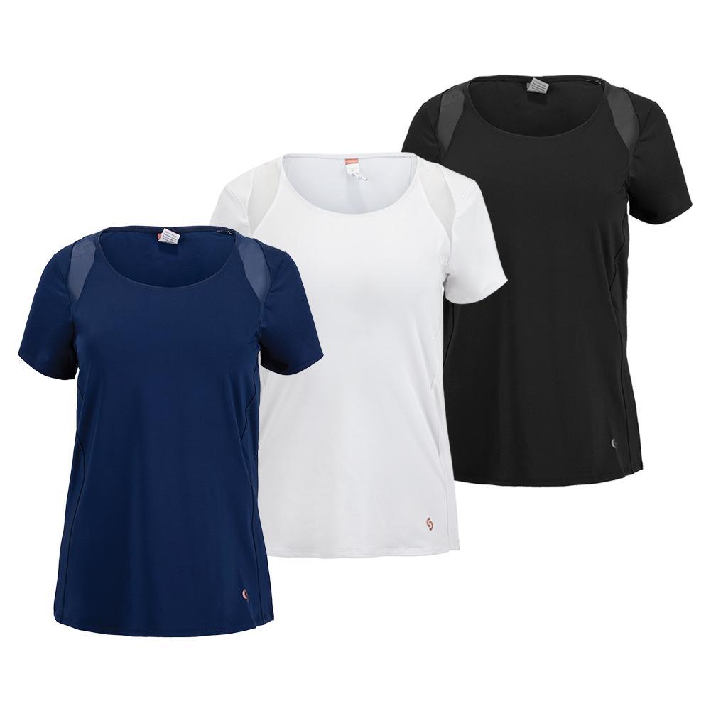 Women's Essentials Cap Sleeve Tennis Top