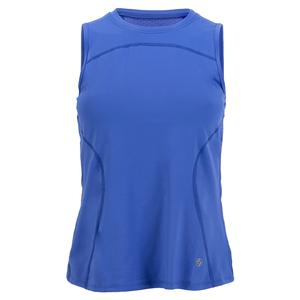 Women`s Tie Back Tennis Tank Atoll Blue