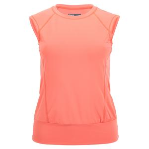 Women`s Crossover Tennis Top Coral