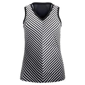 Women`s Edlyn Tennis Tank Vertigo Stripe