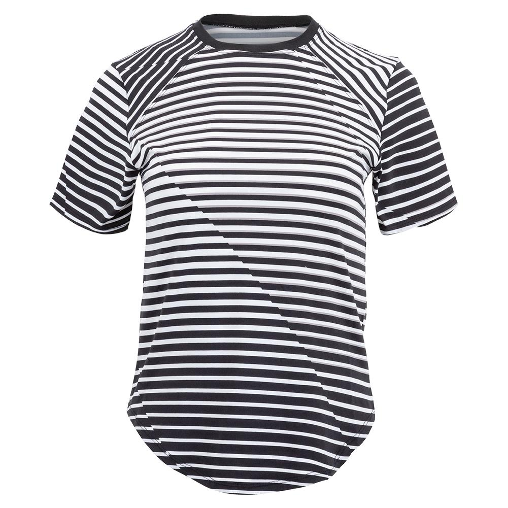 Women's Malika Short Sleeve Tennis Top Vertigo Stripe