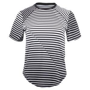 Women`s Malika Short Sleeve Tennis Top Vertigo Stripe