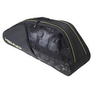 Extreme Nite 6R Combi Tennis Bag Black and Neon Yellow