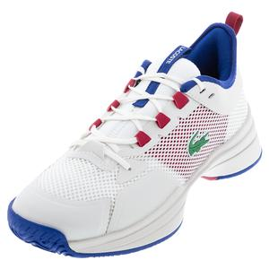 Men`s AG-LT 21 Tennis Shoes Off White and Red