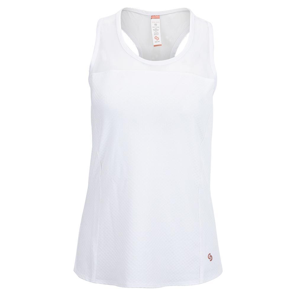 Women's Club Whites Racerback Tennis Tank White