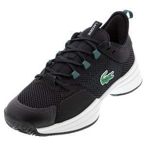 Men`s AG-LT 21 Tennis Shoes Black and Dark Green