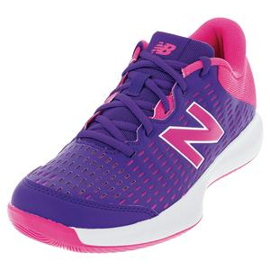 Women`s 696v4 B Width Tennis Shoes Deep Violet and Pink Glo