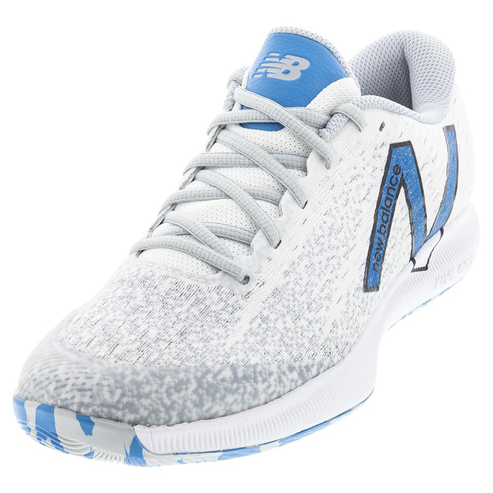 Men's Fuelcell 996v4.5 2e Width Tennis Shoes White And Helium