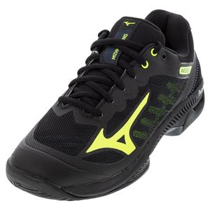 Men`s Wave Exceed SL 2 AC Tennis Shoes Black and Safety Yellow