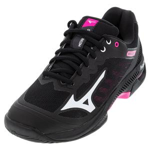 Women`s Wave Exceed SL 2 AC Tennis Shoes Black and White