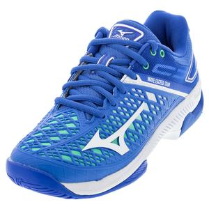 Women`s Wave Exceed Tour 4 AC Tennis Shoes Nebulas Blue and White